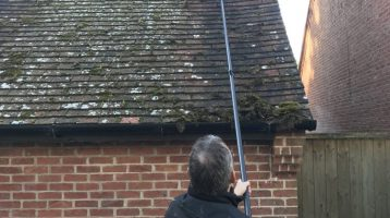 How to remove moss from roofs